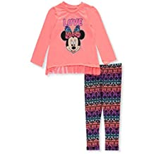 """Minnie Mouse Little Girls' Toddler """"Love Tribe"""" 2-Piece Outfit"""