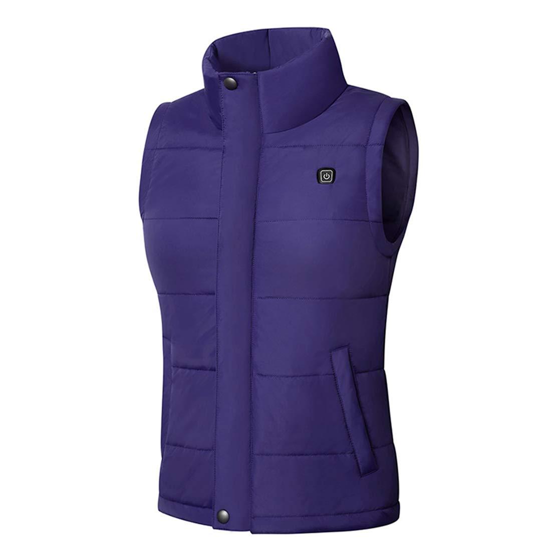 Winter Waistcoat Unisex Washable KIND NY Electric Heated Vest Warmer Jacket V-neck//High Collar
