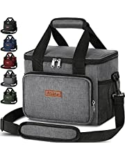 Insulated Lunch Bag for Men Women - Reusable Lunch Box Leakproof Cooler Tote Portable Freezable Kids Adult Lunch Bag Organizer with Adjustable Shoulder Strap to Office Work School Picnic Beach Travel