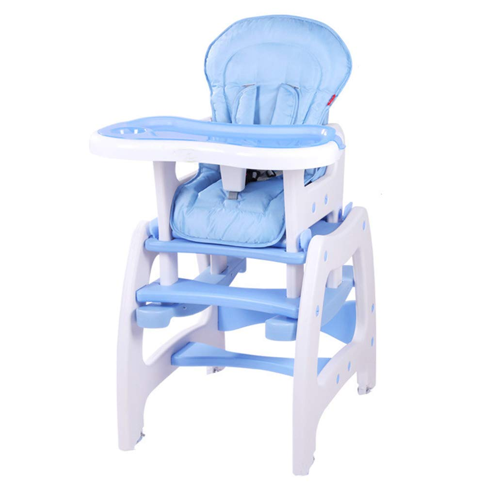 Yingercanyi Baby Dining Chair Baby Dining Table Baby Child Dining Chair Multi-function Eating Chair Learning Desk Chair (color : Blue)