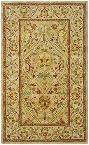Safavieh Persian Legend Collection PL819G Handmade Traditional Moss and Beige Wool Area Rug 3' x 5'