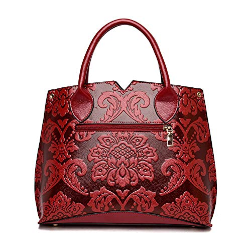portable Wind Shoulder à Nouveau Wangkk en national pour relief bandoulière pour Sac rouge sac femme portable Vin Sac pqzq6Fw