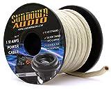 SA-1/0-OFC Silver - Sundown Audio 50 Feet Power Cable Copper Wire (Spool)