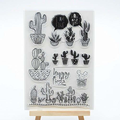 - Welcome to Joyful Home 1pc Cactus Rubber Clear Stamp for Card Making Decoration and Scrapbooking