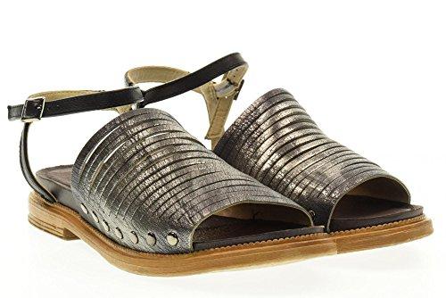 Fabbrica Colli Sandales Gris gris Noir Noir Chaussures 1tato102 Dei w6w4rxF