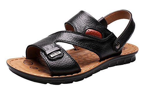 Outdoor Leather Summer Mens Shoes Comfort Black Fashion Vocni Adult Casual Sandals ZqxEBXwqP