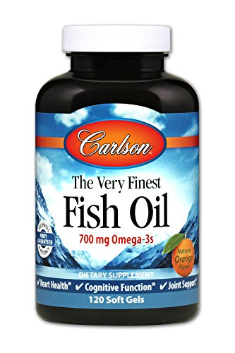 Carlson Norwegian The Very Finest Fish Oil, Orange, 700 mg Omega-3s, 120 Soft Gels by Carlson