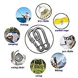 12PCS Snap Hooks with Eyelet, Heavy Duty