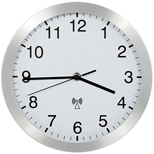 HaWe Funk-Werkstattuhr, Aluminium, weiß /schwarz, 25 x 25 x 5 cm 584.01