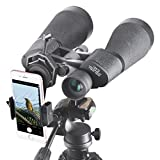 Gosky SkyView 15x70 Astronomy Binoculars, Giant Binoculars with Tripod Adapter, Digiscoping Adapter