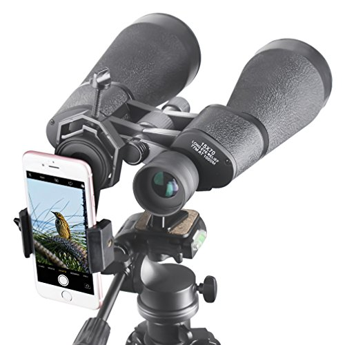 Gosky SkyView 15x70 Astronomy Binoculars, Giant Binoculars with Tripod Adapter, Digiscoping Adapter - for Moon Observation Bird Watching Sightseeing Shooting Star Gazing by Gosky