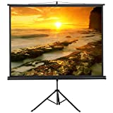 go2buy Portable Projector Screen Indoor/Outdoor Movie Theater Fast-Folding Projector Screen with Stand Legs for Projector ,Movie ,Home Theater, Classroom , Office ,Camp 4:3,84''