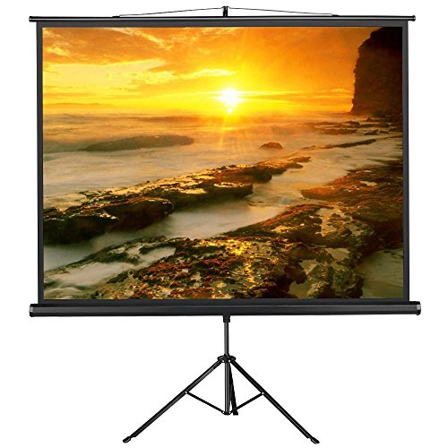 Elite Tripod Projection (go2buy Portable Projector Screen Indoor/Outdoor Movie Theater Fast-Folding Projector Screen with Stand Legs for Projector ,Movie ,Home Theater, Classroom , Office ,Camp 4:3,84