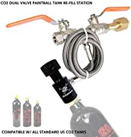 Maddog Paintball Co2 Fill Station - Dual Valve Bottle Refill Station for 9oz, 12oz, 16oz, 20oz + 24oz Co2 Tank