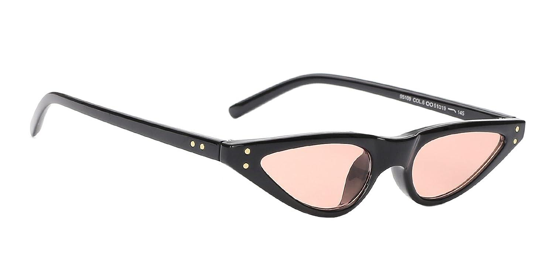 TIJN Cat Eye a Goccia Stretta e Sottile con Montatura Piccola Occhiali da sole per Donna GWXC7AA