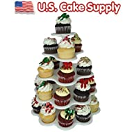 U.S. Cake Supply® Brand 27 Count Plastic Cupcake Dessert Stand with 5 Tiers - - Great for Holiday Parties - Halloween - Thanksgiving - Christmas - 4th of July - Valentines Day - Saint Patricks Day - Use with Themed Wilton Cupcake Baking Cups, Garden, Lawn, Maintenance