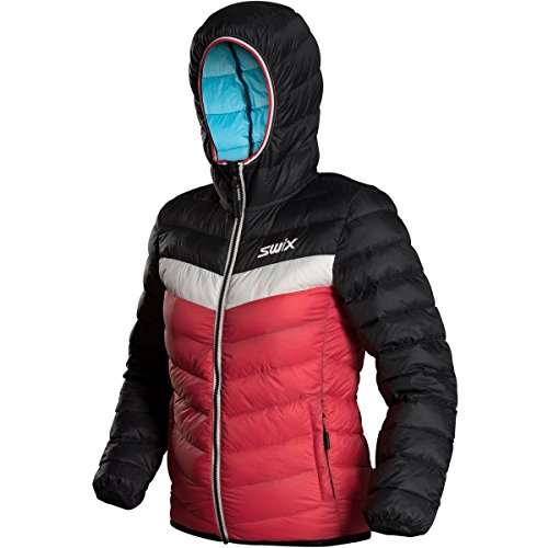 Swix Romsdal Hooded Down Jacket - Girls' Hibiscus, 10-12 by Swix