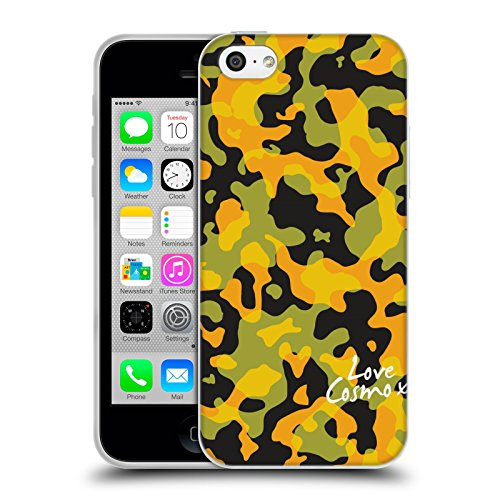 Official Cosmopolitan Yellow Green Camo Soft Gel Case for Apple iPhone 5c