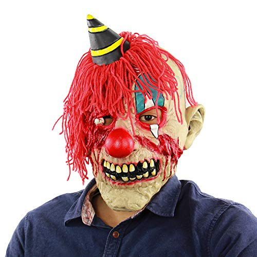 Qian Yu Horror Zombie Clown Mask Scary Halloween Adult Cosplay Props Latex Devil Joker Masks -