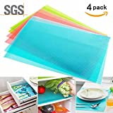 Kitchen Cabinets Colors 4 Pack Refrigerator Pads, HityTech Can Be Cut Multifunctional Anti-bacterial Anti-fouling Anti-frost Waterproof Fridge Pads Shelves Drawer Table Mats - Random Color
