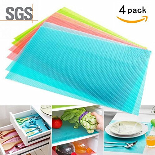 NYKKOLA 4 pcs / lot 29cm45cm Multifunction Refrigerator Pad Mat Fridge Anti-fouling Anti Frost Waterproof Pad