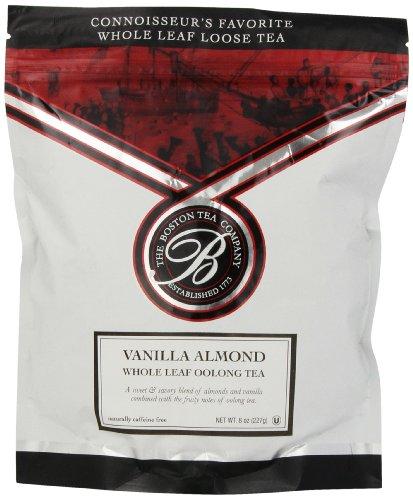 Bentleys Finest Tea - Boston Tea Finest Grade Loose Vanilla Almond Oolong Tea, 8oz,  Resealable Pouch