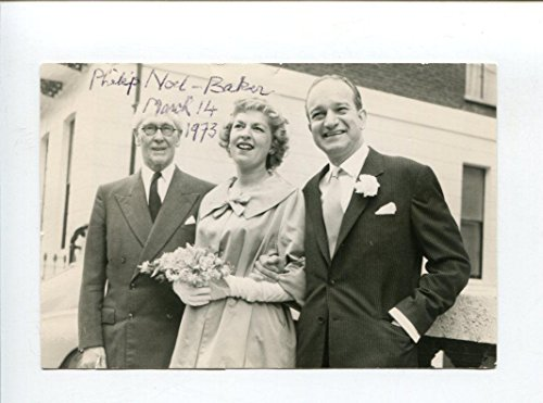 Philip Noel-Baker Olympic Silver Track Nobel Peace Prize Signed Autograph Photo - Autographed Olympic Photos