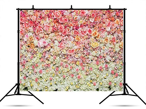 7 x 5ft Pink Red Rose Flower Wedding Backdrops Birthday Party Photography Backdrop Studio Photographers Background Props