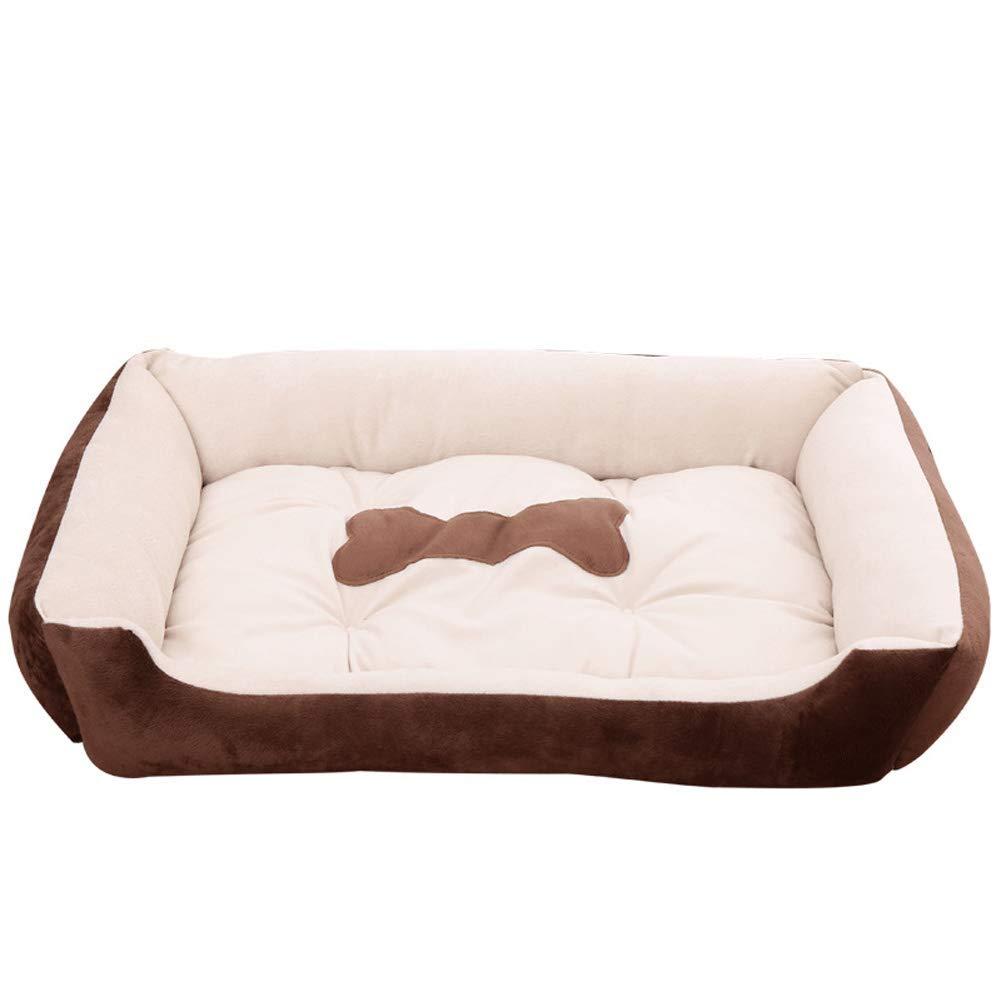 Brown 120 100cmPet Bed, Pet Nest Teddy golden Retriever Dog, Super Soft Mattress Cat Litter Soft Pad for Pets Sleeping (color   Brown, Size   120 100cm)