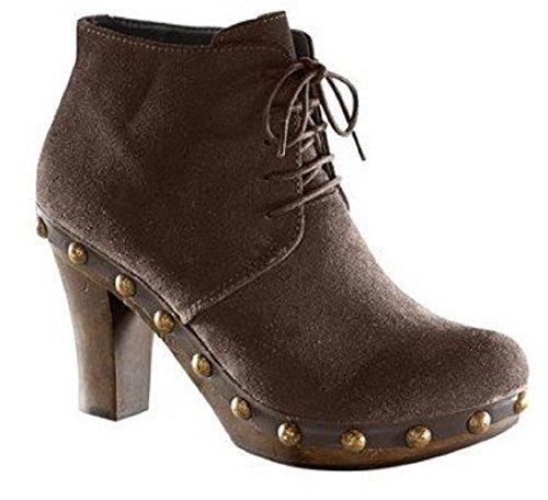 Unbekannt Pumps - Zapatos de Cordones de cuero Mujer marrón - Marrón-marrón