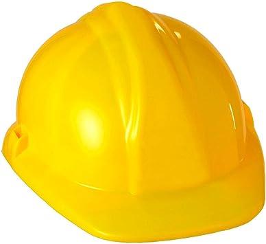 Caschetto muratore giallo plastica casco elmetto