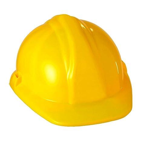 NET TOYS Casco protettivo da cantiere elmo giallo da muratore accessori travestimento  e costumi carnevale a7a38a02bfcd