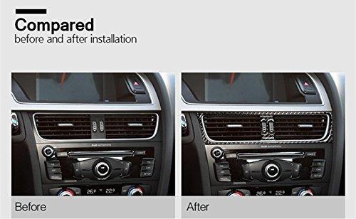 Carbon Fiber Center console Air Vent Outlet Trim copertura 2PCS