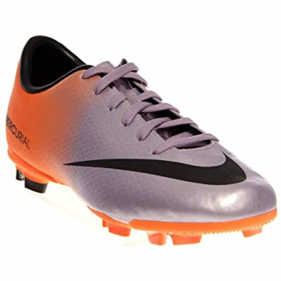 ecf2d4ce0da4 Nike Mercurial Victory IV FG Junior Football Boots, Purple/Orange, UK2