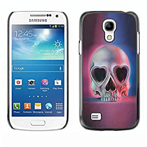 Shell-Star Art & Design plastique dur Coque de protection rigide pour Cas Case pour SAMSUNG Galaxy S4 mini VERSION! / i9190 / i9192 ( Love Skull Hearts Eyes Blue Pink Death )
