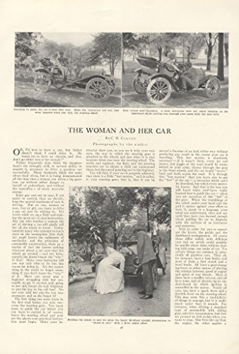 1913 Article The Woman and Her Car C. H. Claudy Electric Versus Gas- Original Vintage (Ch For Her compare prices)