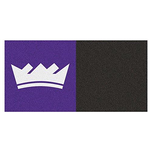 (Fanmats NBA Sacramento Kings Team Logo Sports Gym Room Indoor Carpet Floor Tiles 18