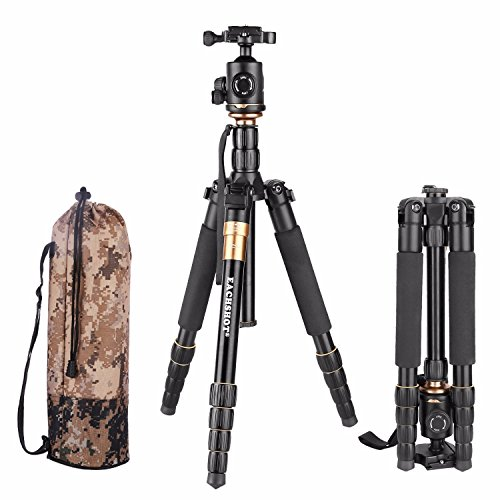 EACHSHOT-Q666-Tripod-With-Q-02-360-Degree-Swivel-Fluid-Head-For-Canon-For-Pentax-For-Sony-For-Olympus-DSLR-Camera-Carrying-Bag