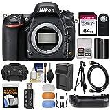 Nikon D750 Digital SLR Camera Body with 64GB Card + Case + Battery & Charger + Grip + Tripod + Kit
