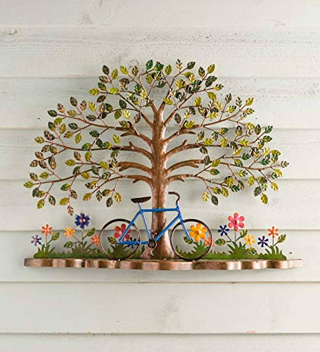 - Plow & Hearth Bicycle and Tree Metal Wall Art