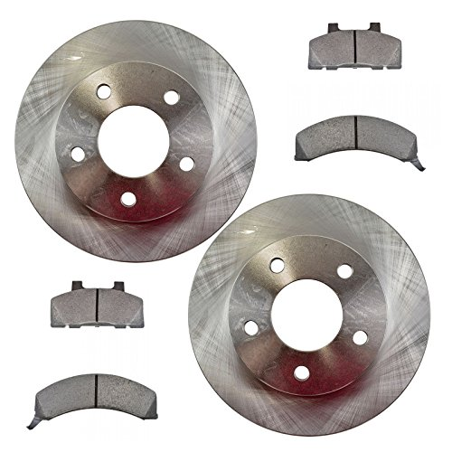 Front Metallic Disc Brake Pads & Rotors Kit Set for Buick Chevy Olds Pontiac