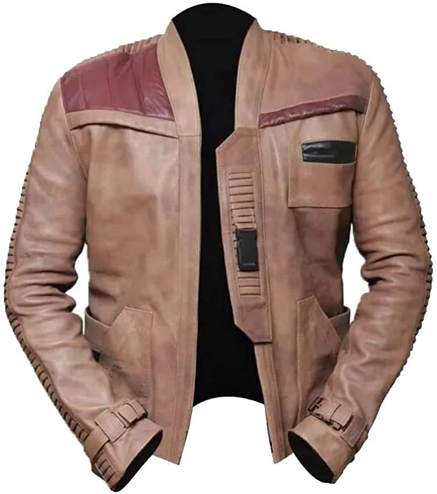 Stormwise Mens Wars The Fashion Force Star Real Leather Jacket
