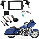 Harley Davidson Roadglide 2015 Double DIN Stereo Harness Radio Install Dash Kit