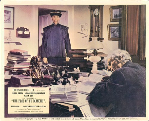 THE FACE OF FU MANCHU ORIGINAL LOBBY CARD HAMMER HORROR CHRISTOPHER LEE from Silverscreen