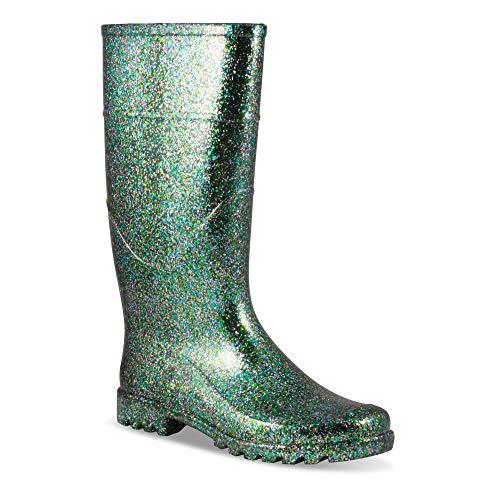 Twisted Women's Drizzy Jelly Rain Boots- Drizzy Z2 Multi, Size 10 ()