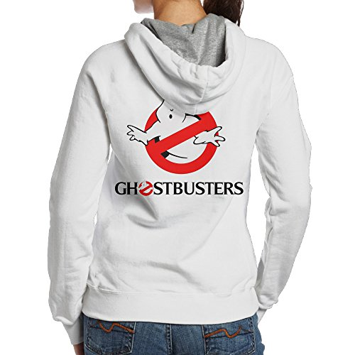Ano Women's Hoodies Funny Ghost Buster Size L White ()