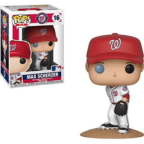 Max Scherzer [Washington Nationals]: x Funko POP! MLB Vinyl Figure & 1 POP! Compatible PET Plastic Graphical Protector Bundle [#016 / 30243 - B] ()
