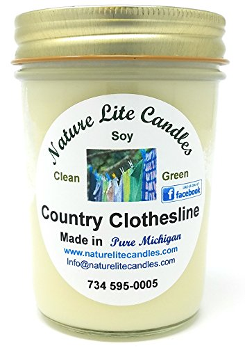 Scented Soy Jar and Lid Candle by Nature Lite Candle (8 oz, (Country -