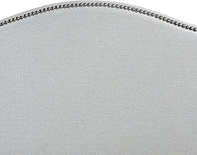 LexMod Curl Nailhead Upholstered Headboard