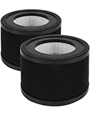 Auscoumer H13 True HEPA Replacement Filter, Compatible with TaoTronics TT-AP001 Air Purifier and VAVA VA-EE014 Air Purifier, 3-in-1 RF H13 Grade True HEPA and Activated Carbon Filter Set, 2-Pack